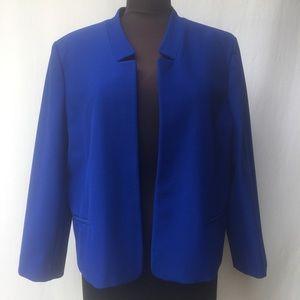 NWOT Ann Taylor Electric Blue Jacket Sz18